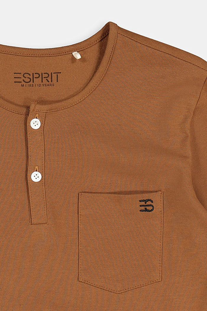 Long sleeve top made of 100% cotton, TOFFEE, detail image number 2
