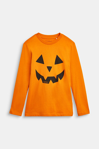 Long sleeve top with a Halloween print