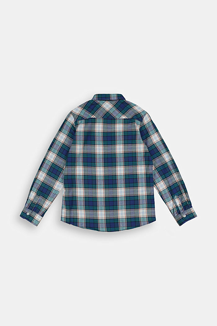 Check shirt in 100% cotton, FOREST, detail image number 1
