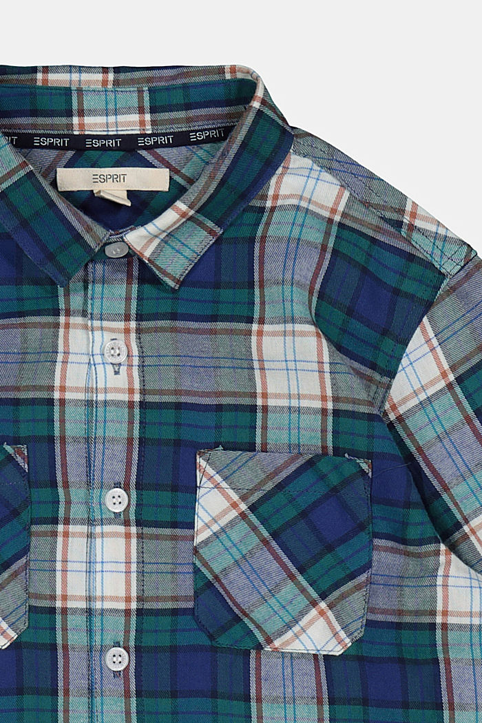 Check shirt in 100% cotton, FOREST, detail image number 2