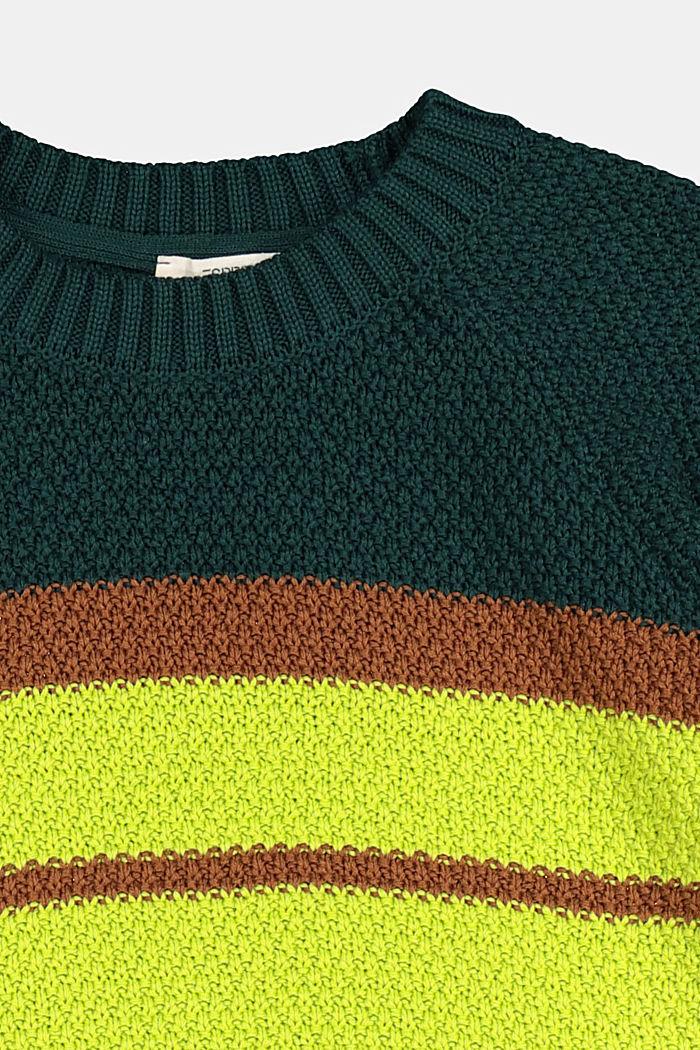 Struktur-Pullover aus 100% Baumwolle, FOREST, detail image number 2