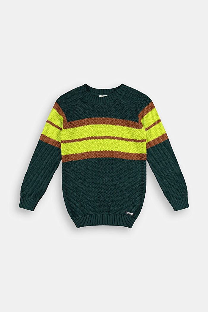 Textured jumper in 100% cotton