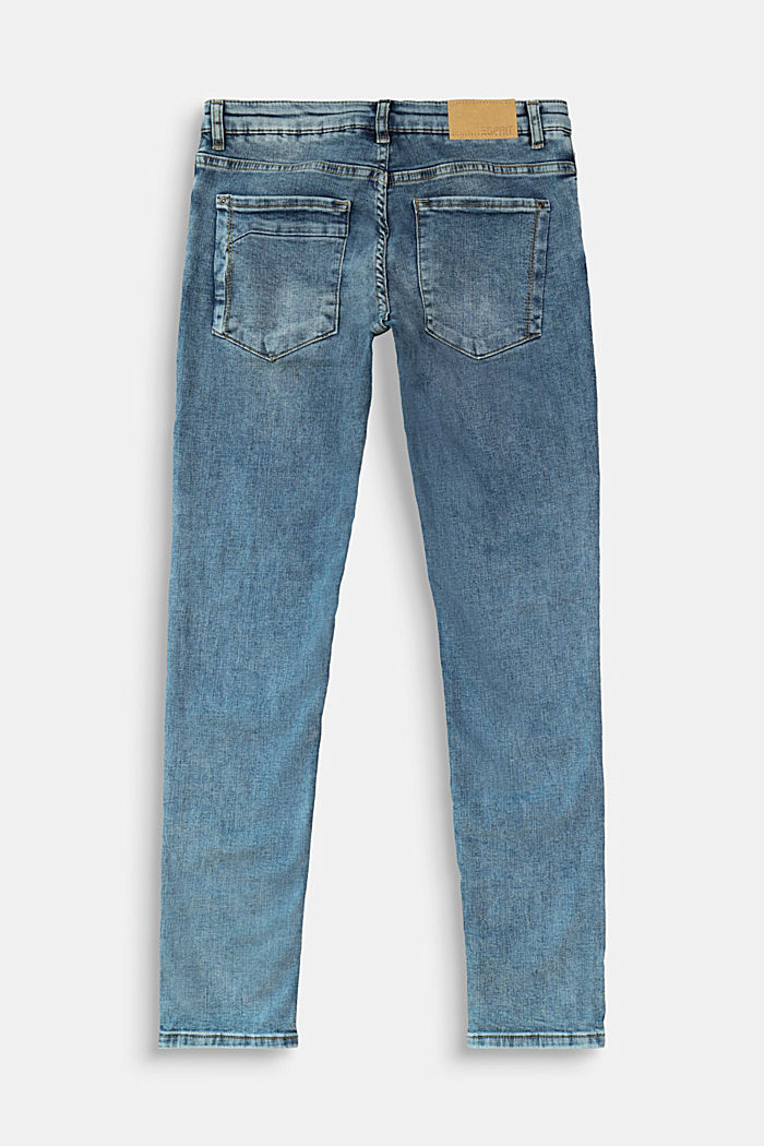 Jeans in a vintage look with appliqués, BLUE MEDIUM WASHED, detail image number 1