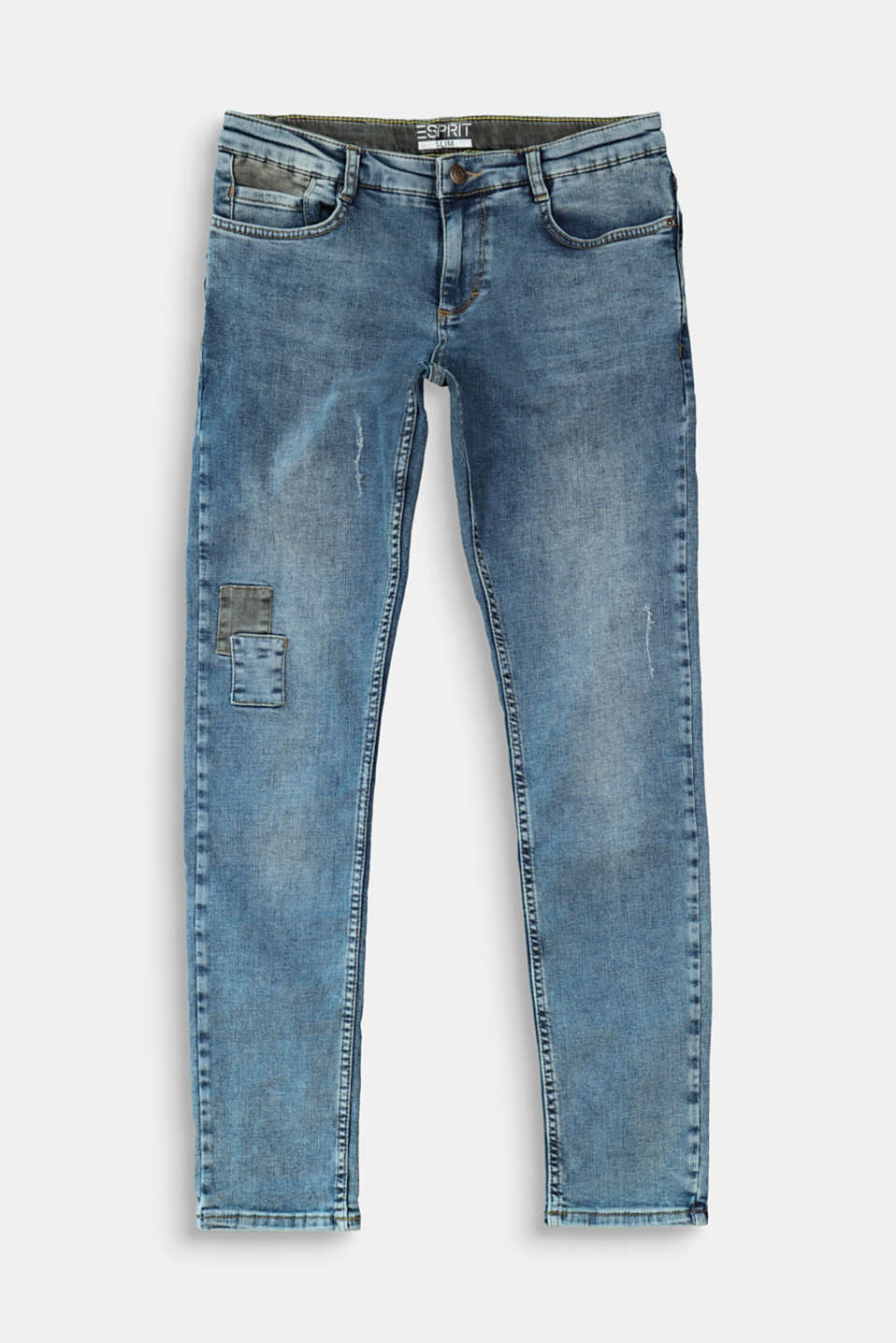 Esprit - Jeans i used-look med patches