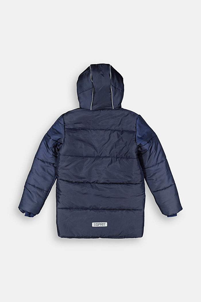 Parka with hood and fleece lining