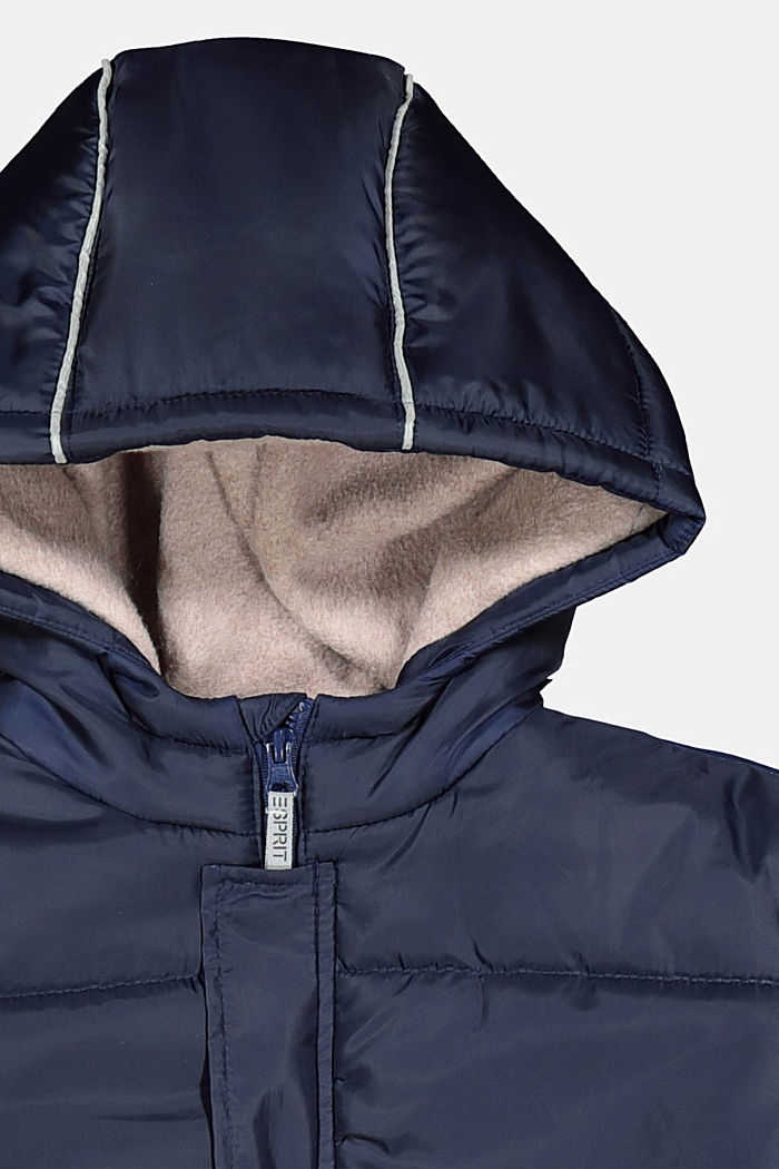 Parka with hood and fleece lining, INK, detail image number 2