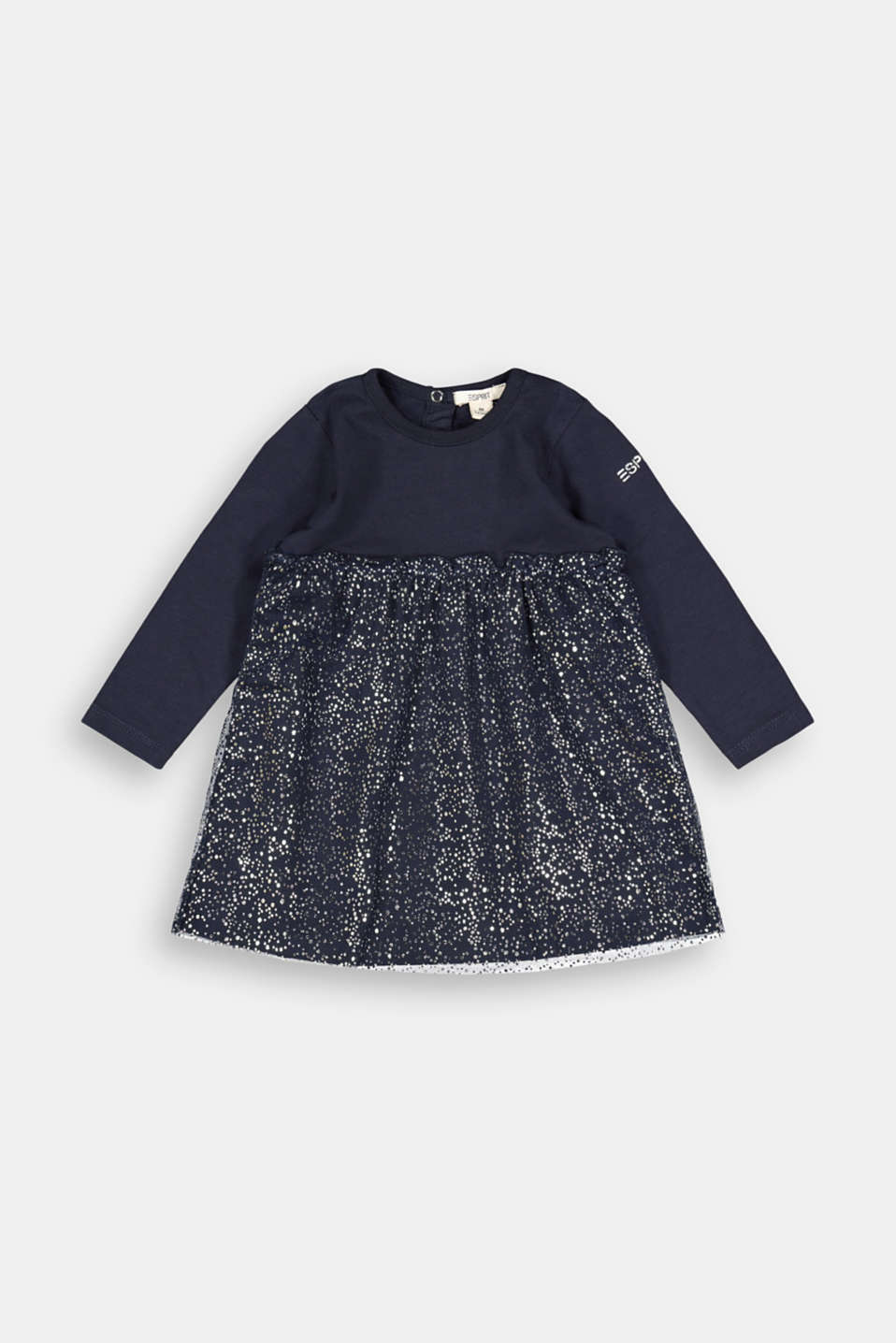 Esprit - Jersey dress with a shiny tulle skirt