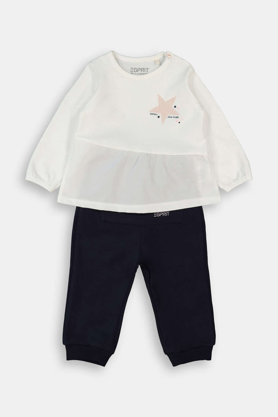 Esprit - Set: top and trousers, organic cotton