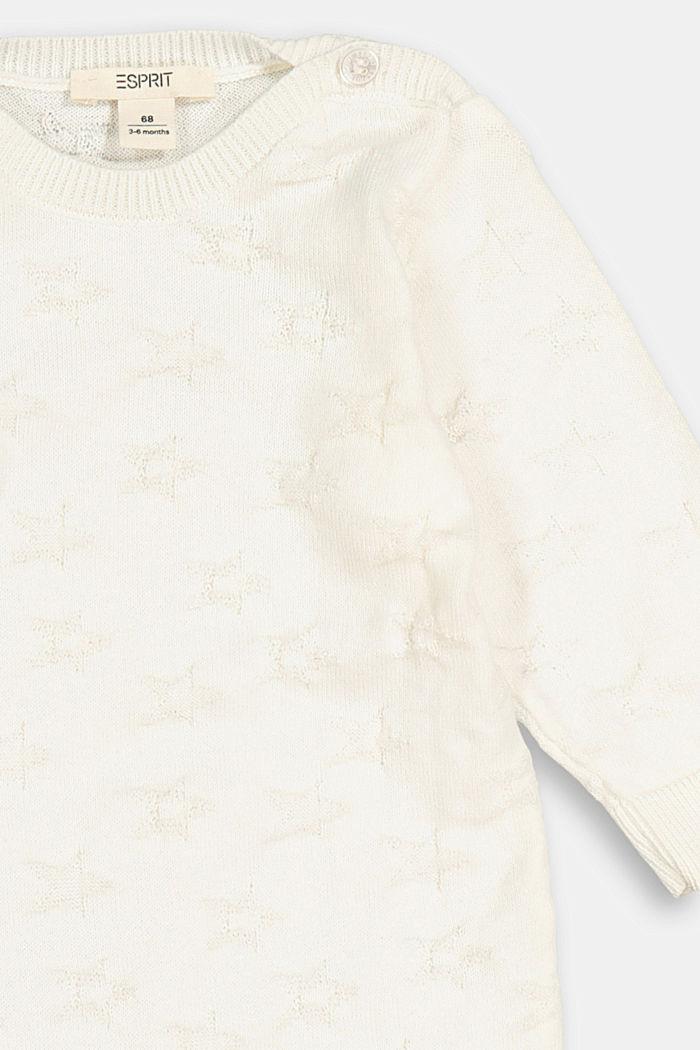 Jacquard knit bodysuit, 100% organic cotton, SKIN BEIGE, detail image number 2