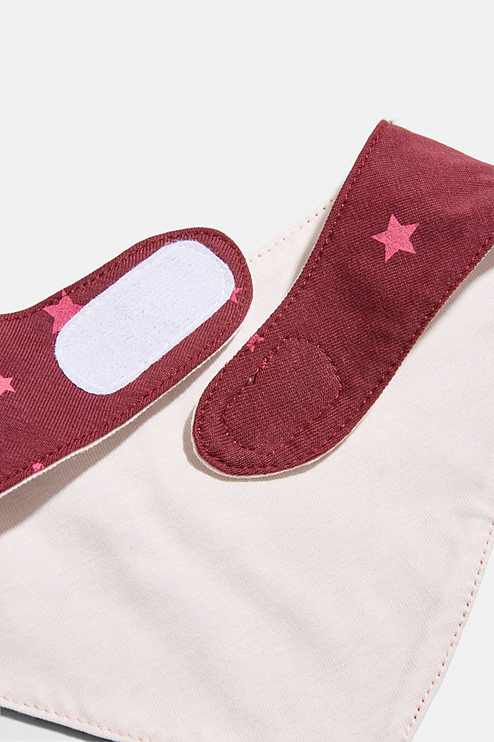 Scarf with a star print, PLUM RED, detail image number 2