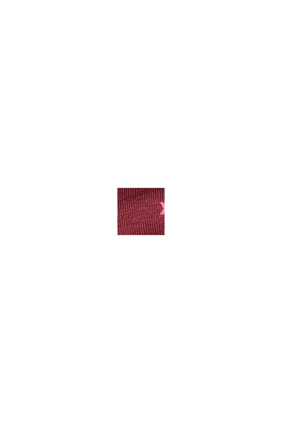 Jersey-Mütze aus elastischer Bio-Baumwolle, PLUM RED, swatch