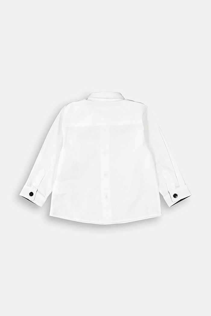 Shirt with a detachable bow tie, WHITE, detail image number 1