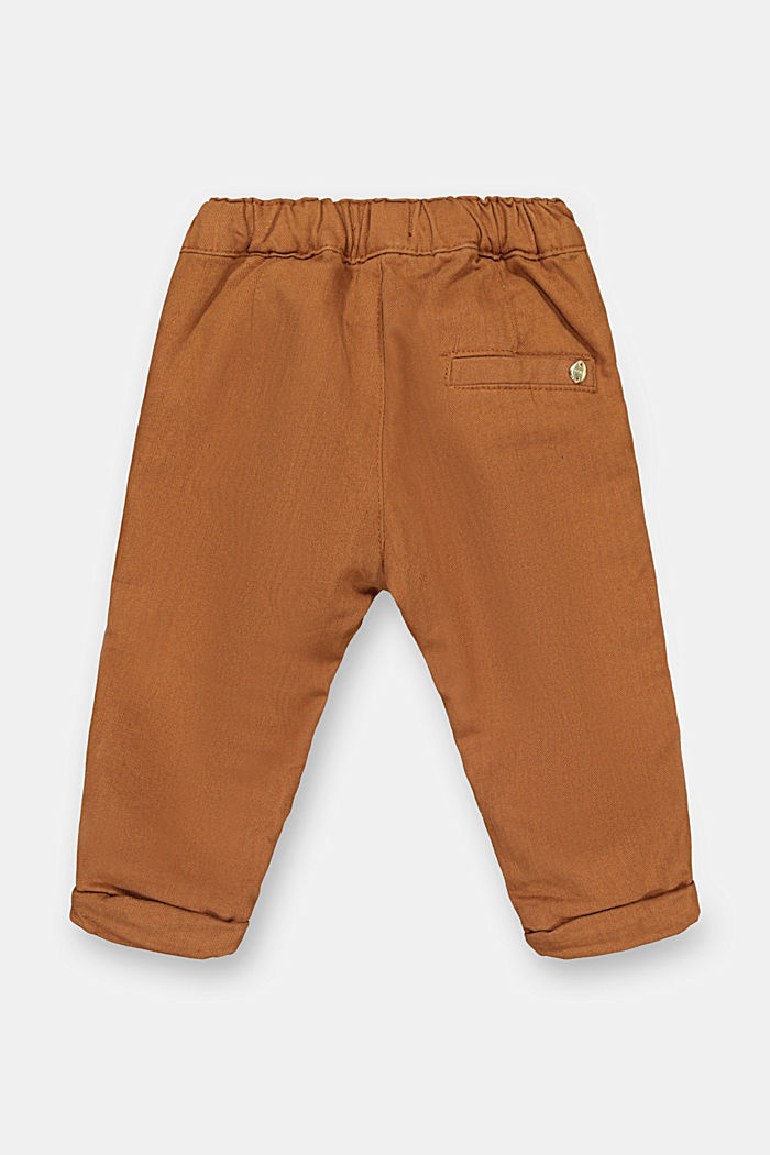 Herringbone trousers made of 100% cotton