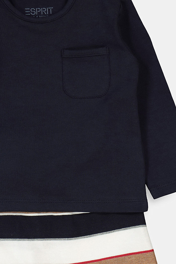 Set: top and trousers, organic cotton, NAVY, detail image number 2