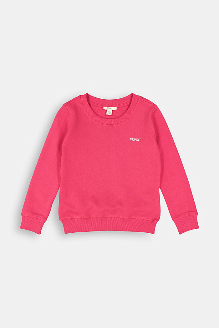 100% cotton jumper, DARK PINK, detail image number 0
