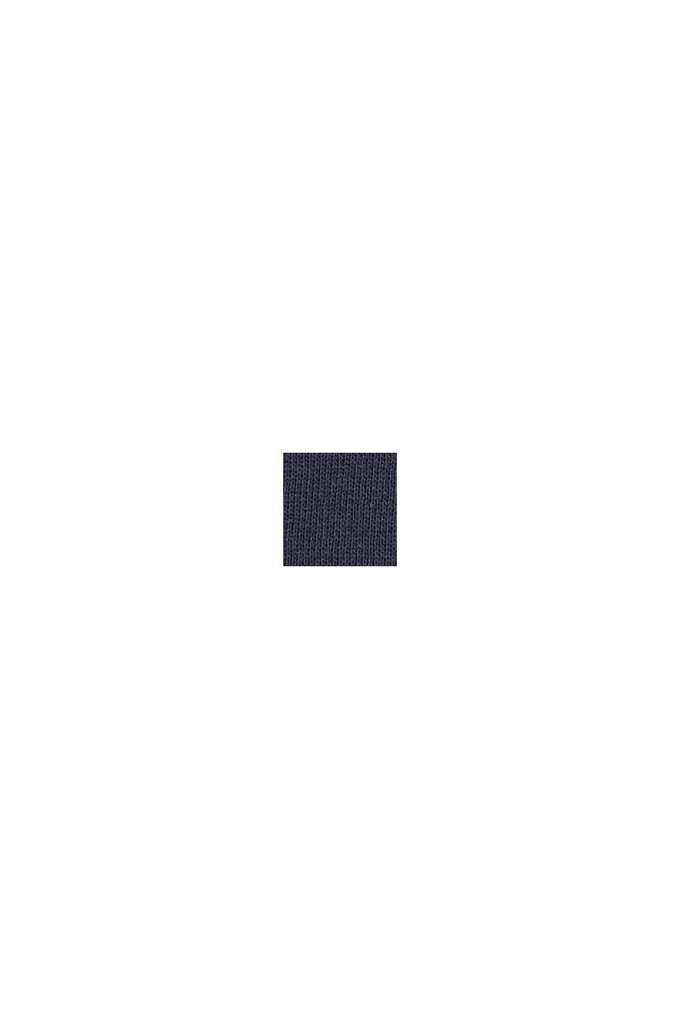Kardigan dresowy, 100% bawełny, NAVY, swatch