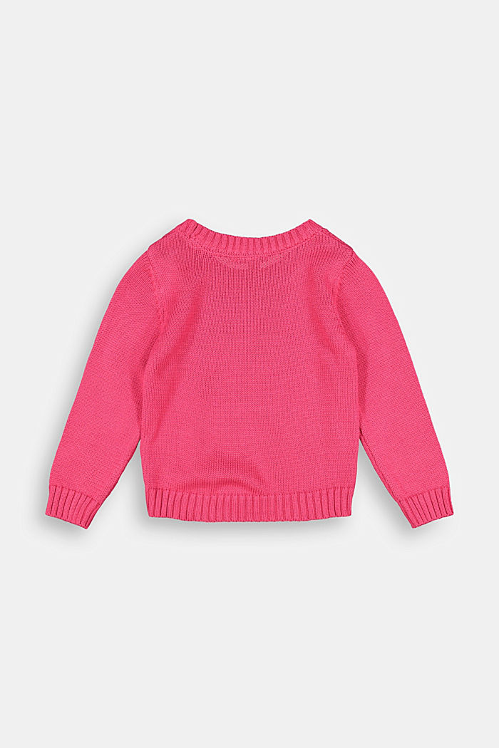 Star intarsia jumper, DARK PINK, detail image number 1