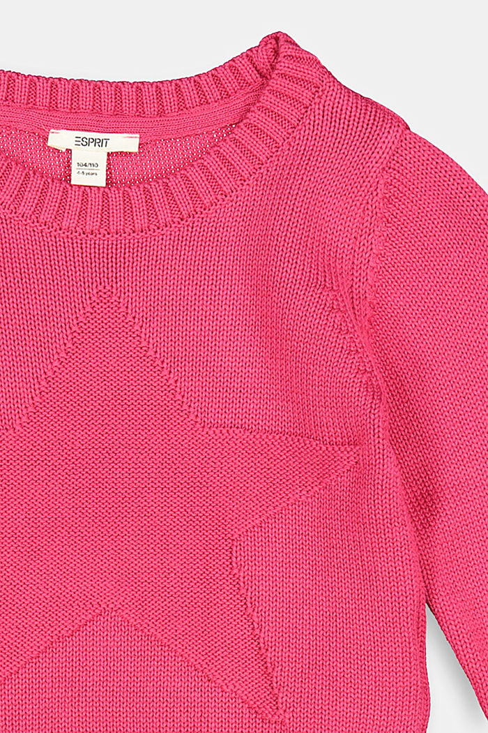 Star intarsia jumper, DARK PINK, detail image number 2