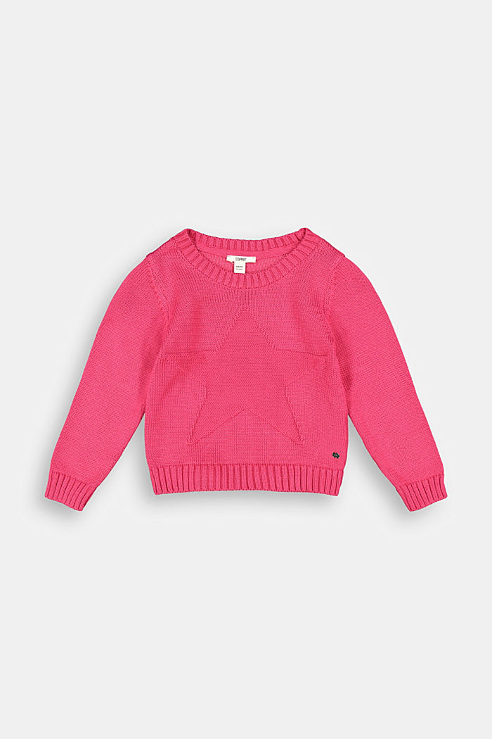 Star intarsia jumper, DARK PINK, detail image number 0