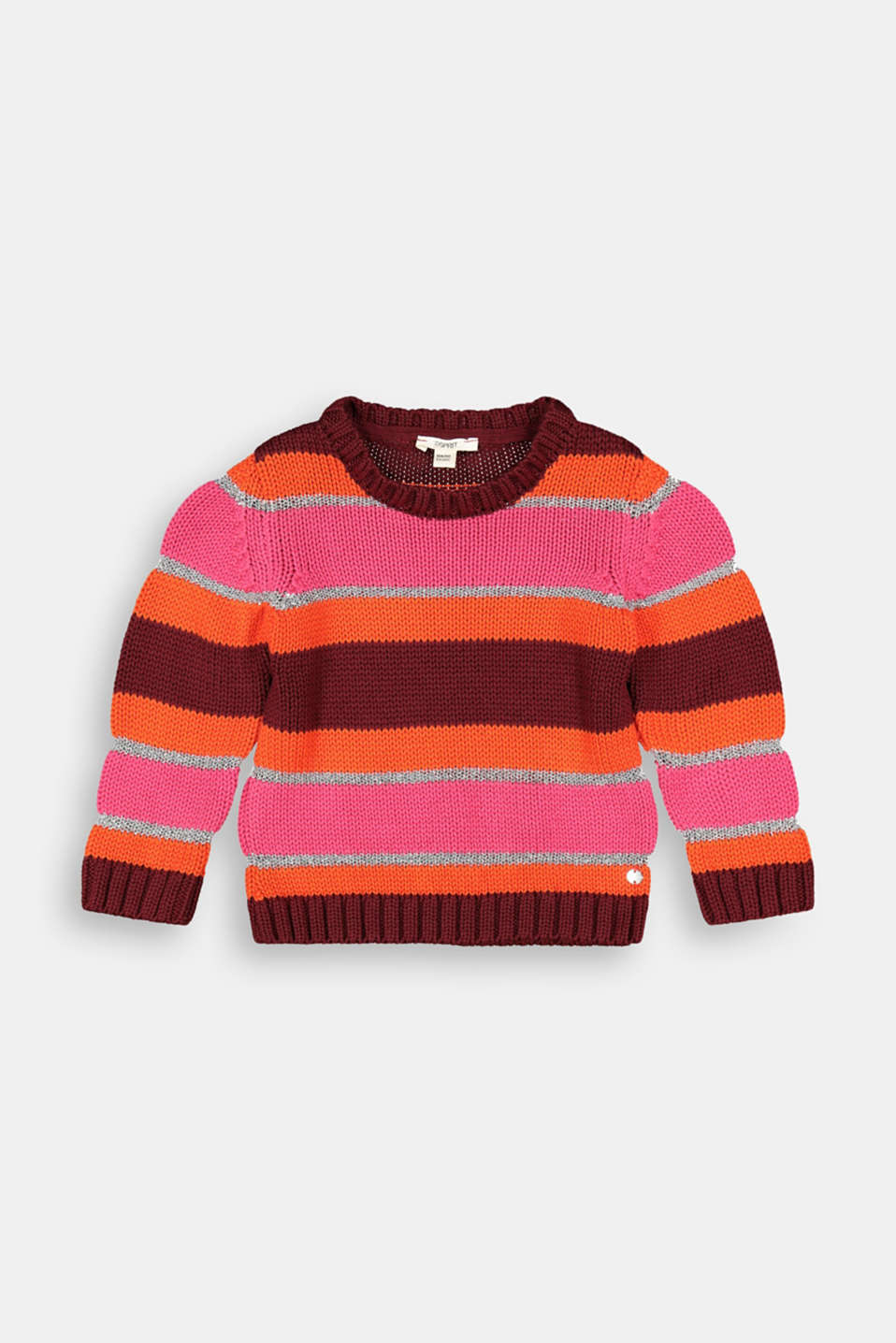 Esprit - Striped jumper with metallic effects