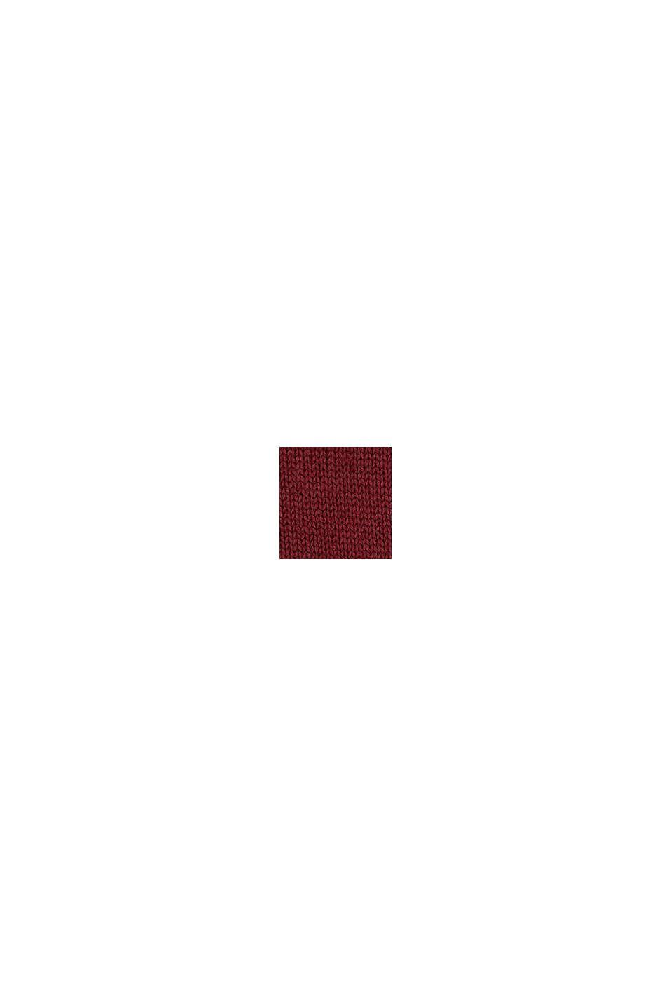 Kardigan z puszystymi intarsjami w kształcie gwiazdek, PLUM RED, swatch