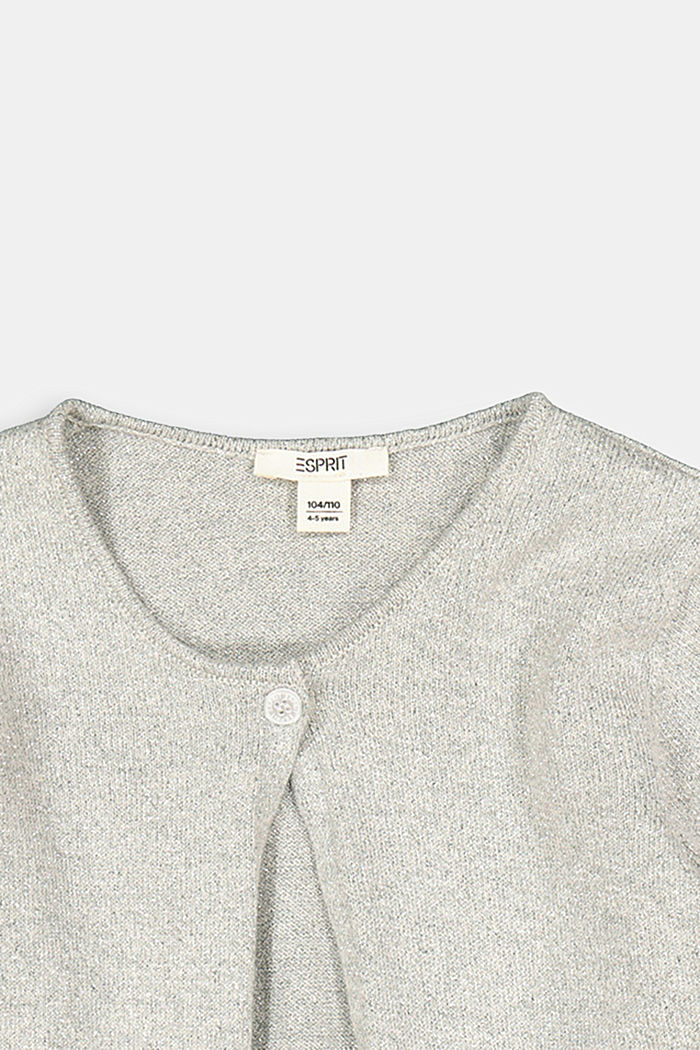 Cardigan with a glitter effect, MEDIUM GREY, detail image number 2