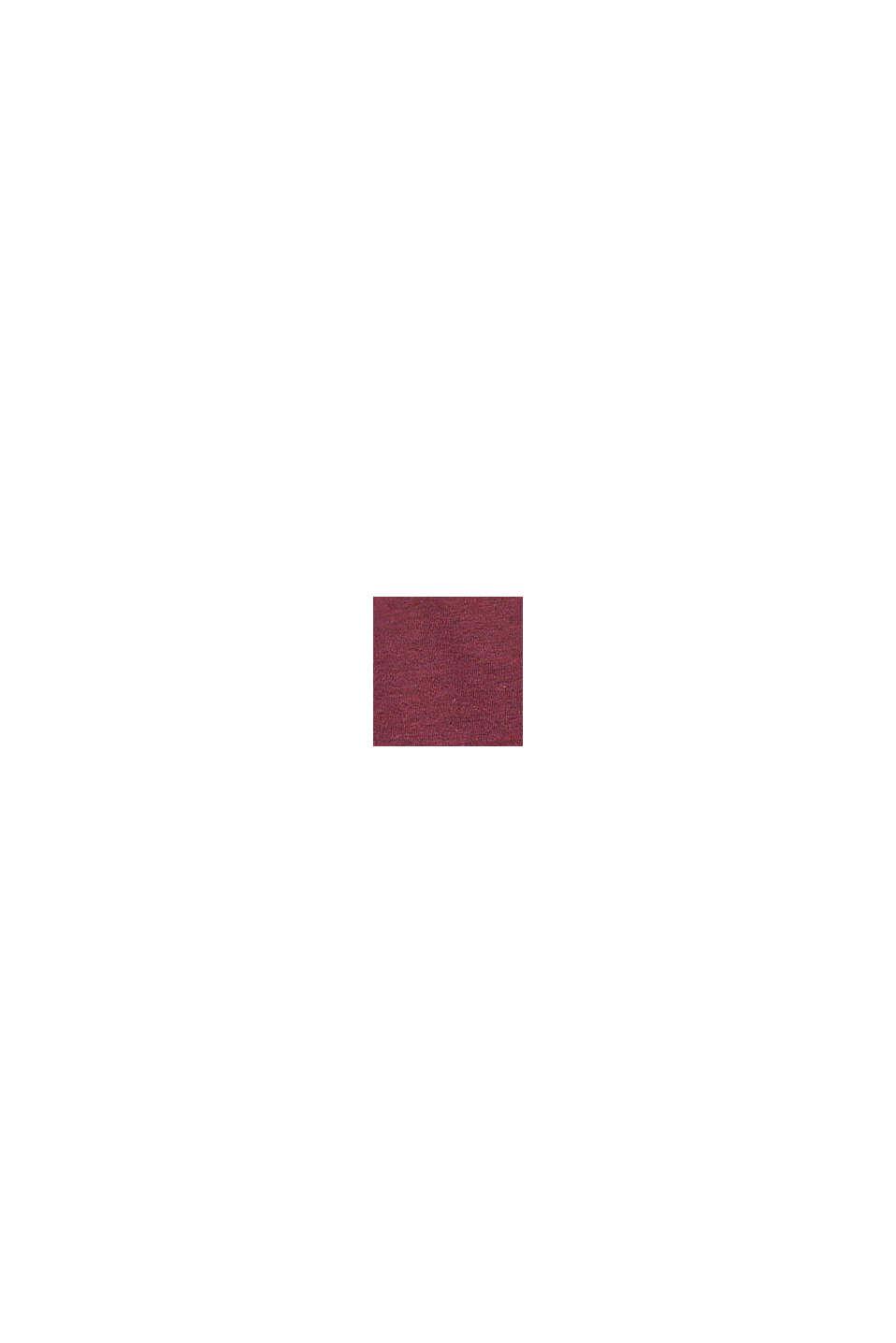 Jersey jurk met geplooide rok, PLUM RED, swatch