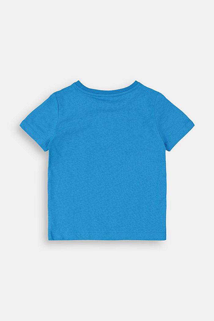 Logo-T-Shirt aus 100% Baumwolle, DARK TURQUOISE, detail image number 1