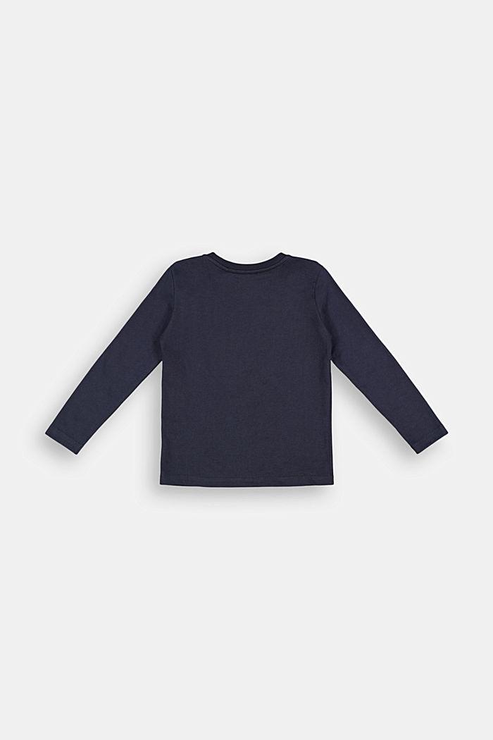Print-Longsleeve aus 100% Baumwolle, NAVY, detail image number 1