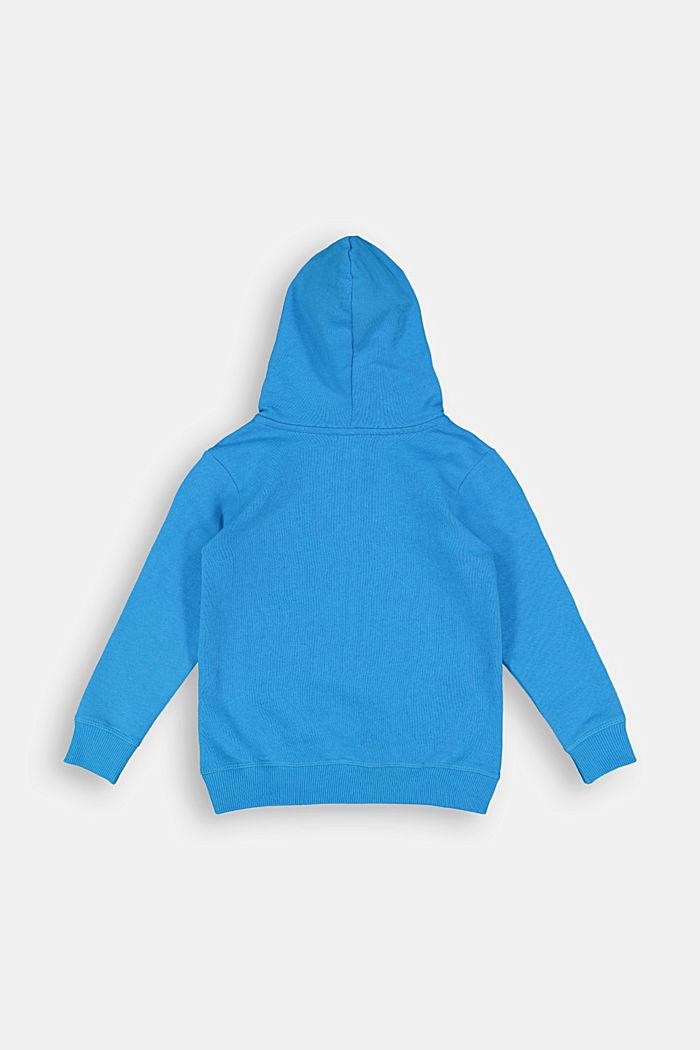 Logo sweatshirt hoodie made of 100% cotton, DARK TURQUOISE, detail image number 1