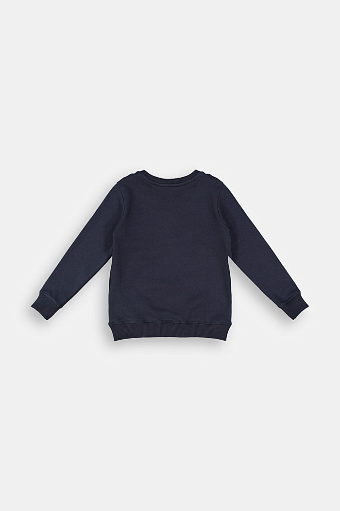 Print sweatshirt in 100% cotton, NAVY, detail image number 1