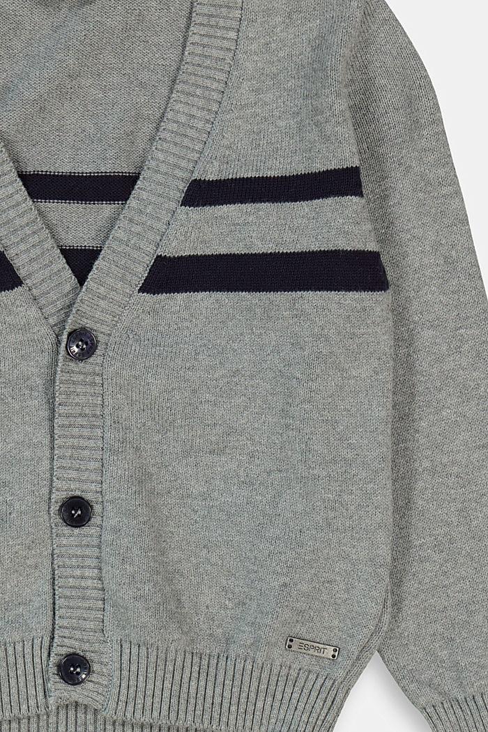 Strick-Cardigan aus 100% Baumwolle, DARK GREY, detail image number 2