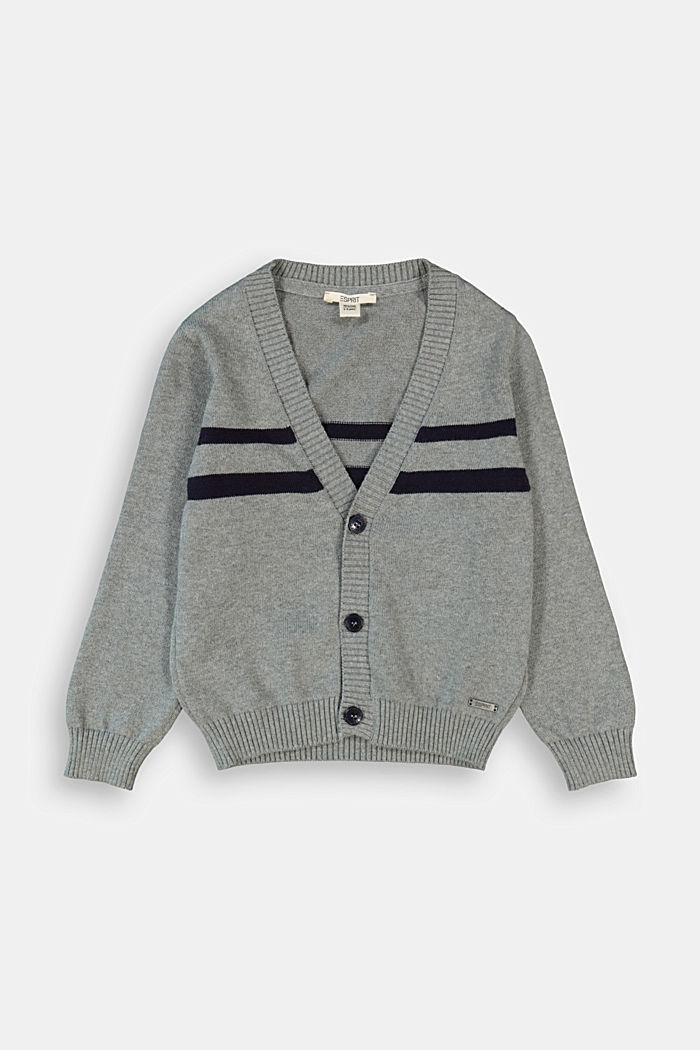 Knit cardigan in 100% cotton
