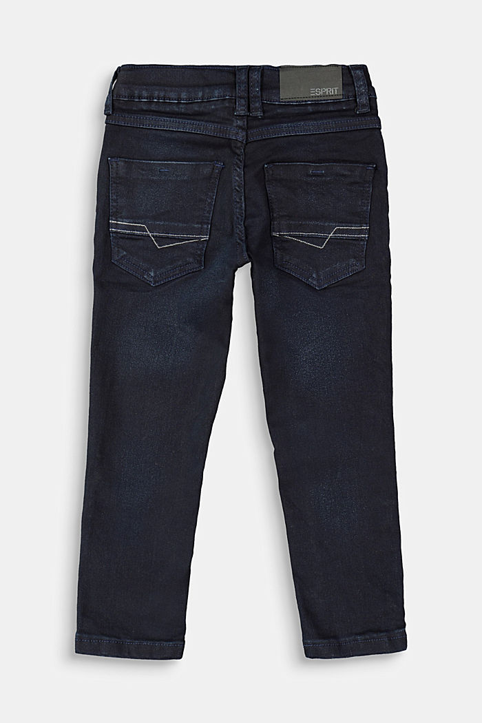Jeans with a practical adjustable waistband, BLUE DARK WASHED, detail image number 1