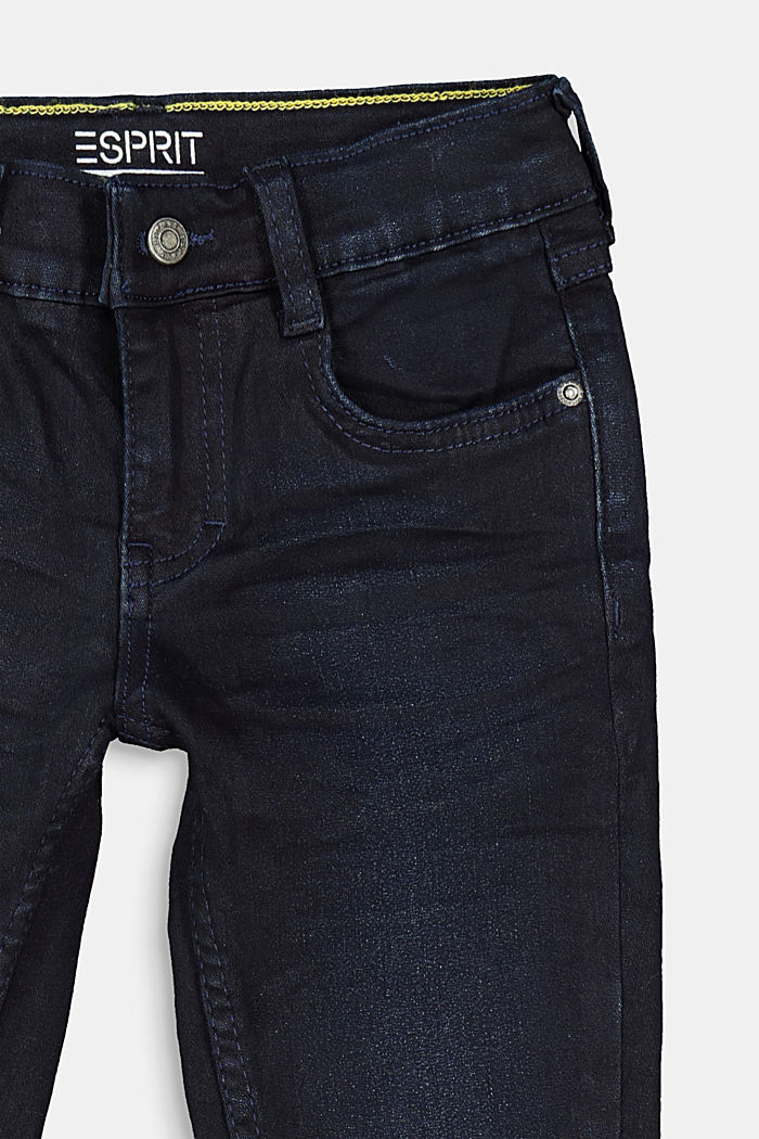 Jeans with a practical adjustable waistband, BLUE DARK WASHED, detail image number 2