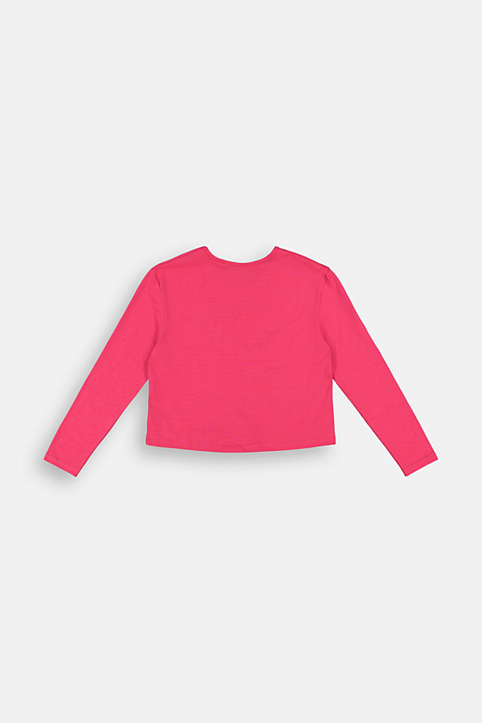 Long sleeve top with a glitter print, DARK PINK, detail image number 1
