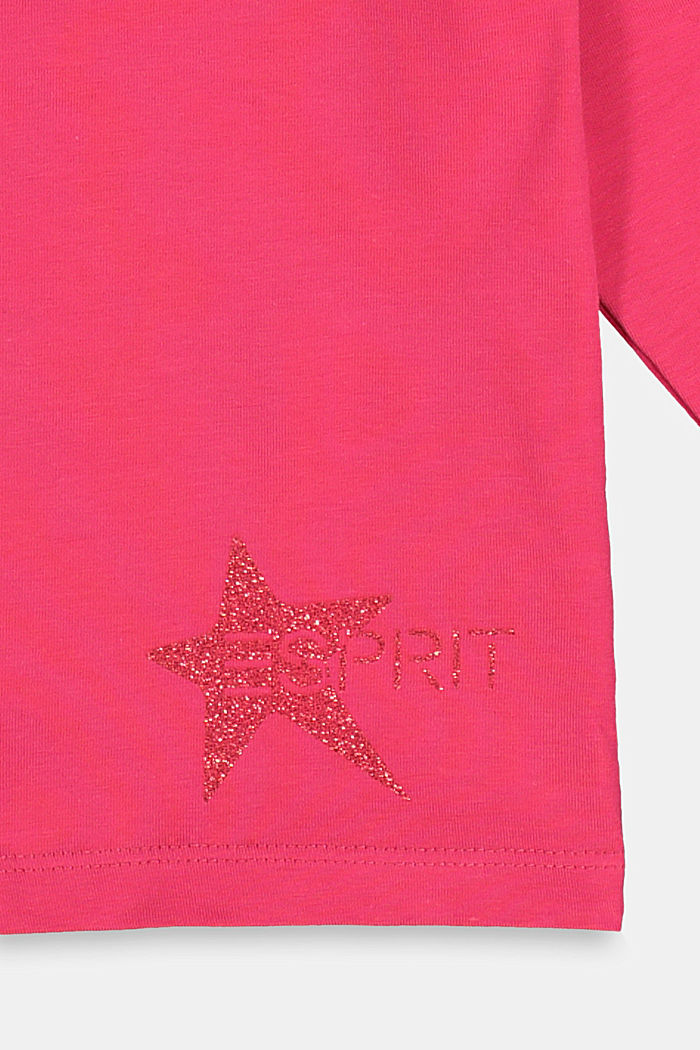 Long sleeve top with a glitter print, DARK PINK, detail image number 2