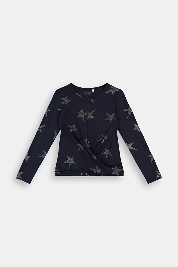 Long sleeve top with a glitter print