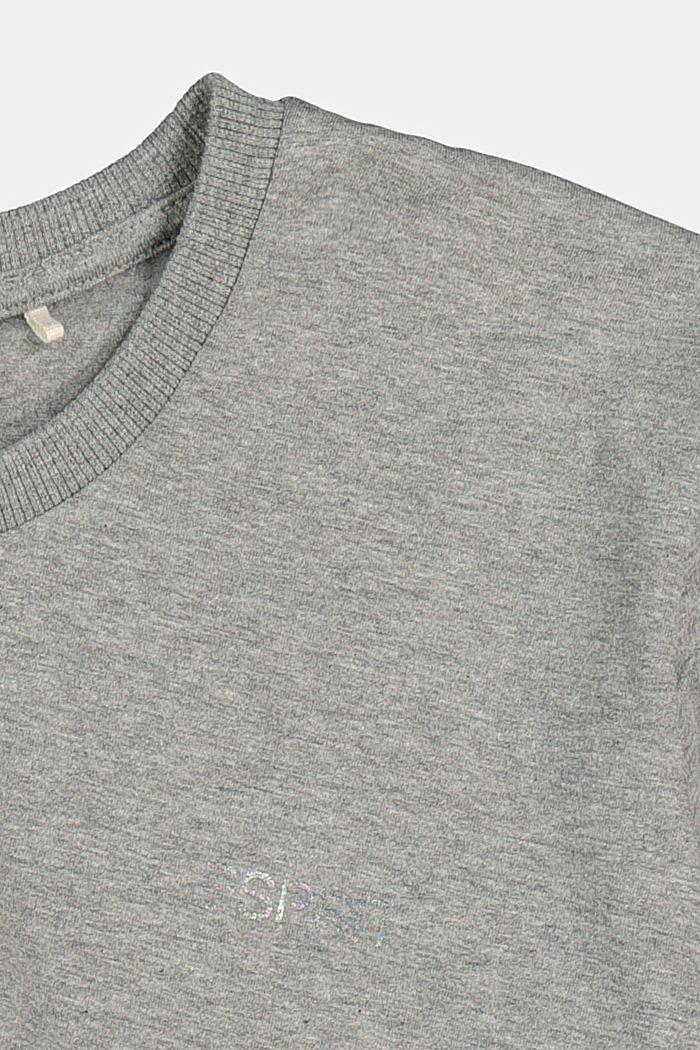 Tričko s dlouhým rukávem a řasením, 100% bavlna, DARK GREY, detail image number 2