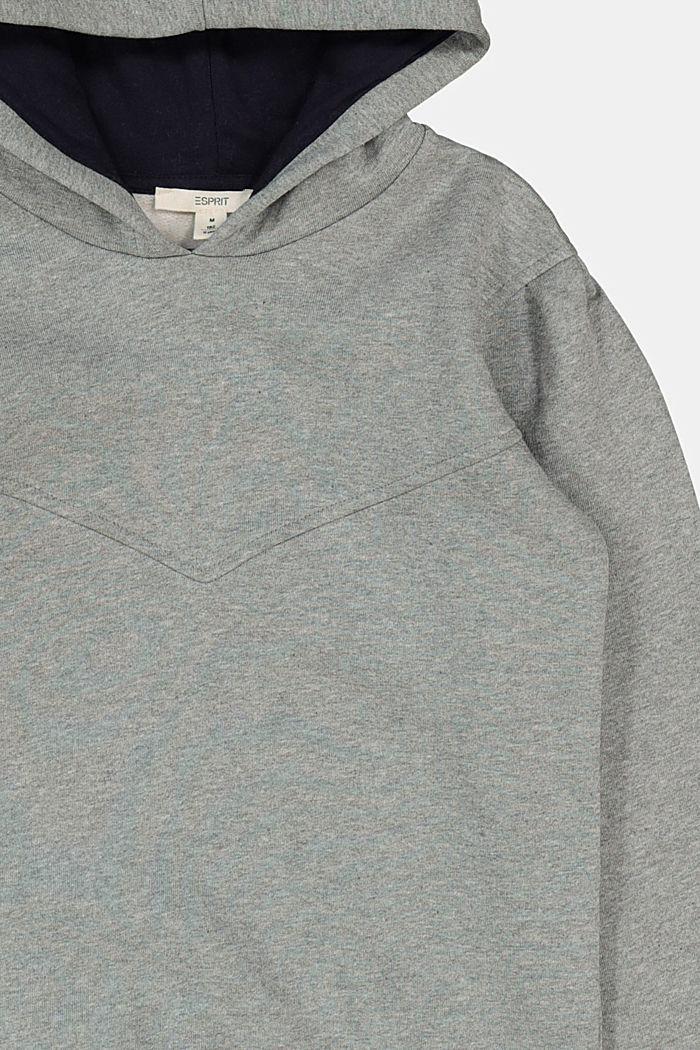 Sweat à capuche 100% coton, DARK GREY, detail image number 2