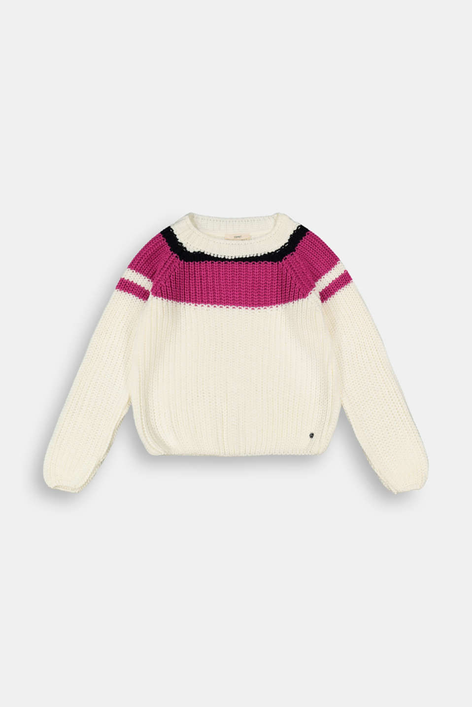 Esprit - Pull-over à rayures d´aspect colour blocking