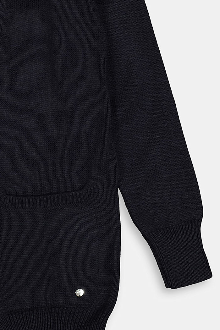 Open cardigan with pockets, NAVY, detail image number 2
