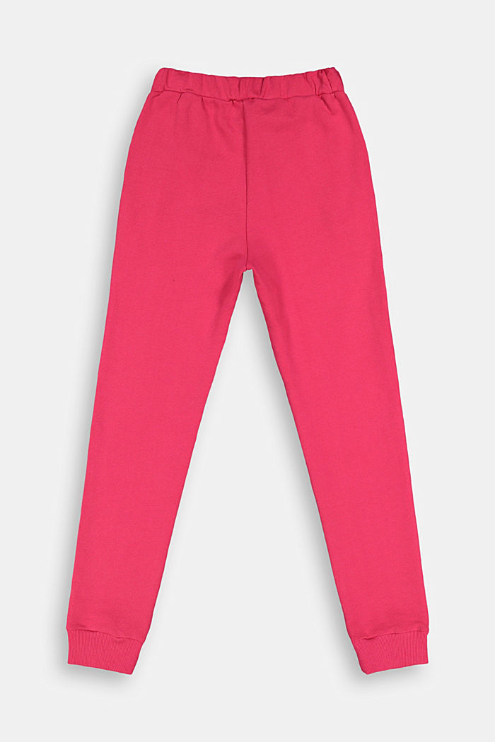 Basic Sweathose aus 100% Baumwolle, DARK PINK, detail image number 1