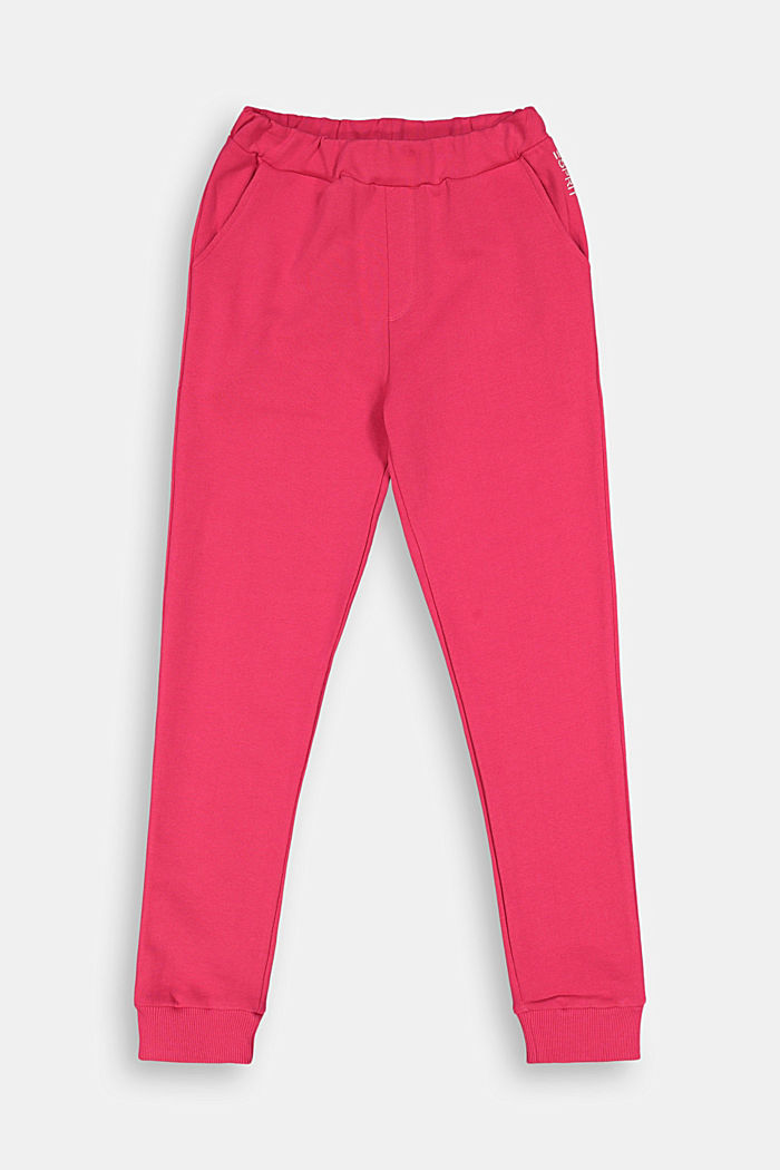 Basic Sweathose aus 100% Baumwolle, DARK PINK, detail image number 0