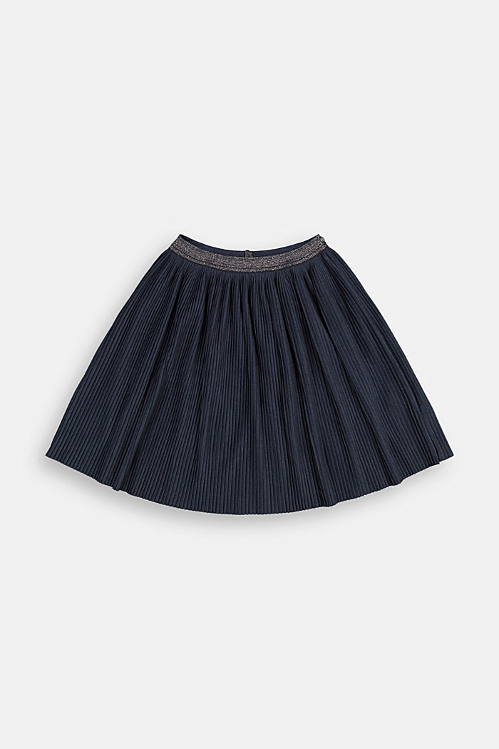 Pleated skirt made of melange jersey