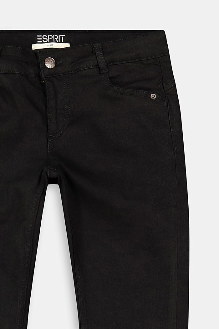 Stretch jeans with an adjustable waist, BLACK DARK WASHED, detail image number 2