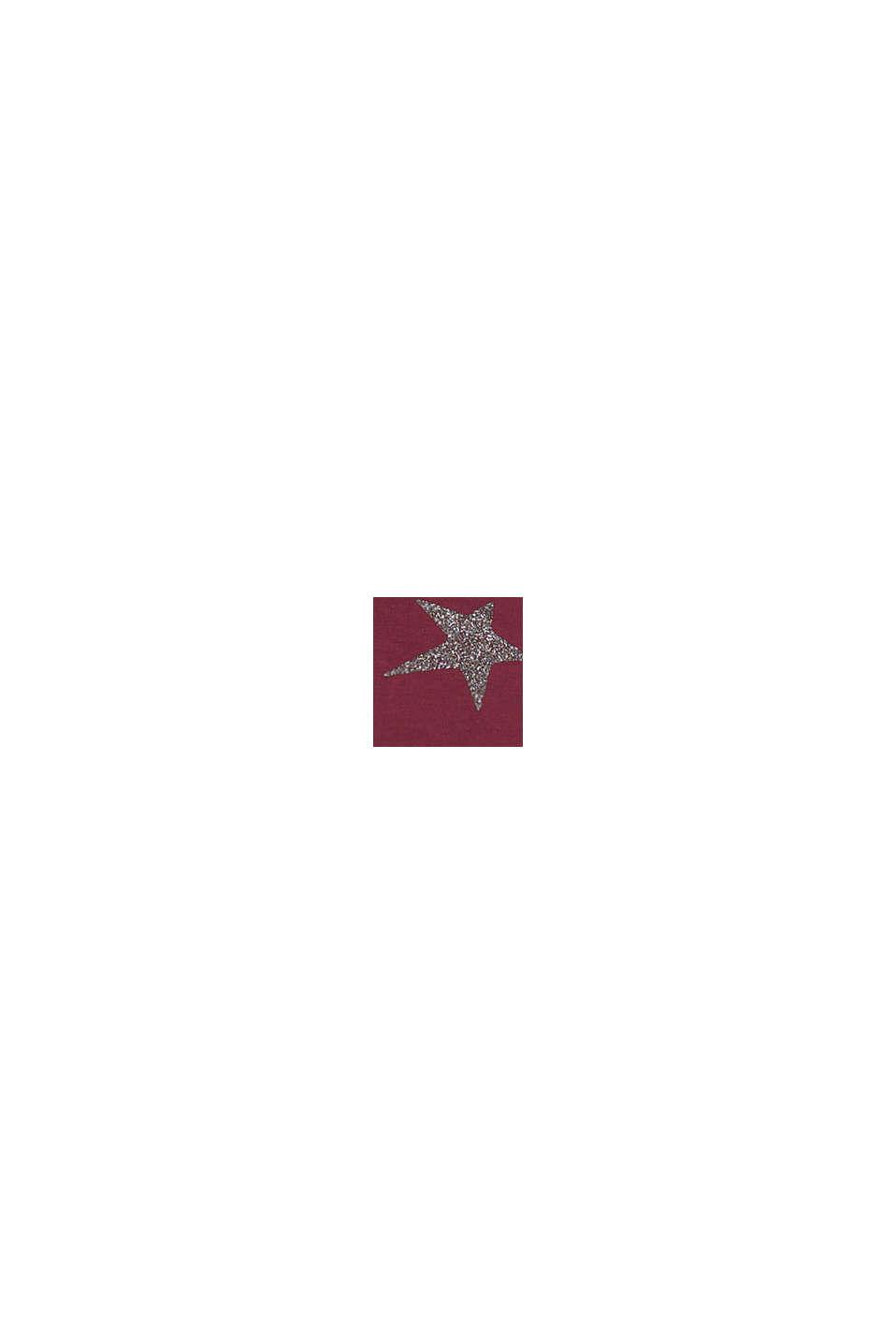 Jersey-Kleid mit glitzerndem Sterne-Print, PLUM RED, swatch