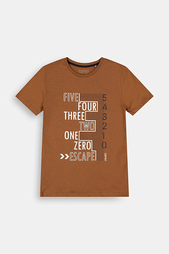 Jersey T-shirt in 100% cotton, TOFFEE, detail image number 0