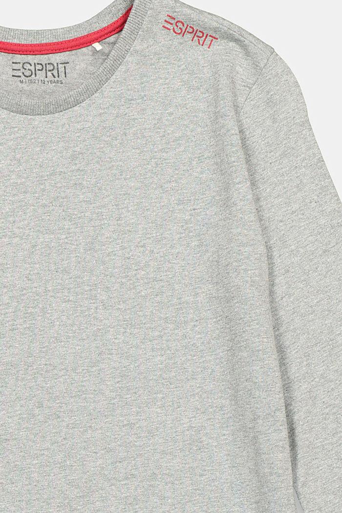 Print-Longsleeve aus 100% Baumwolle, DARK GREY, detail image number 2