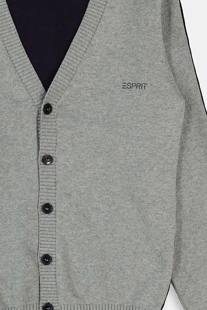 Sweaters cardigan, DARK GREY, detail image number 2